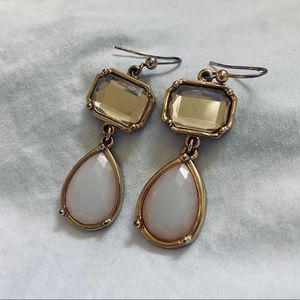 Pink and Gold Drop Earrings- Chico's